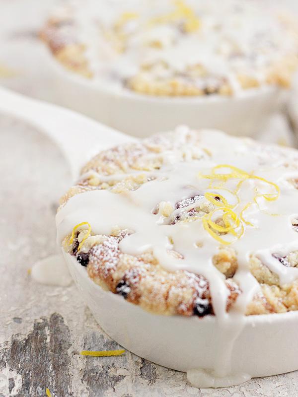 Blueberry Buttermilk Cake with Lemon Glaze