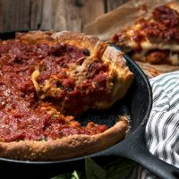 Cast Iron Skillet Deep Dish Pizza