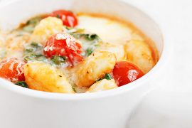 Baked Gnocchi, Tomatoes and Bocconcini