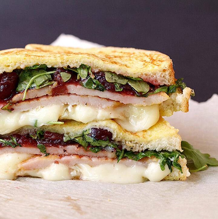 monte cristo sandwich on parchment