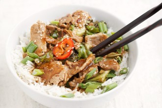 Spicy Orange Chili Pork Stir-fry