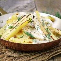 Grilled Potato Salad with Grainy Mustard Dressing
