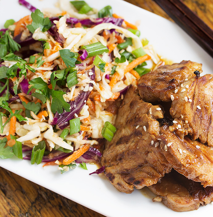 five spice pork with asian slaw recipe dishmaps recipe for five spice ...