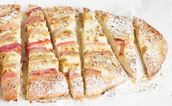 Rhubarb Pistachio Flatbread
