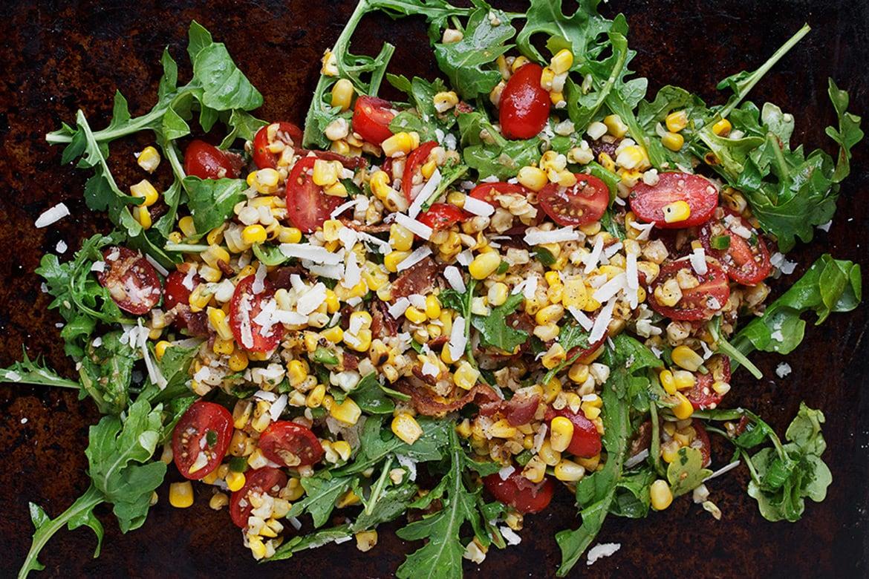 Roasted Corn and Tomato Salad