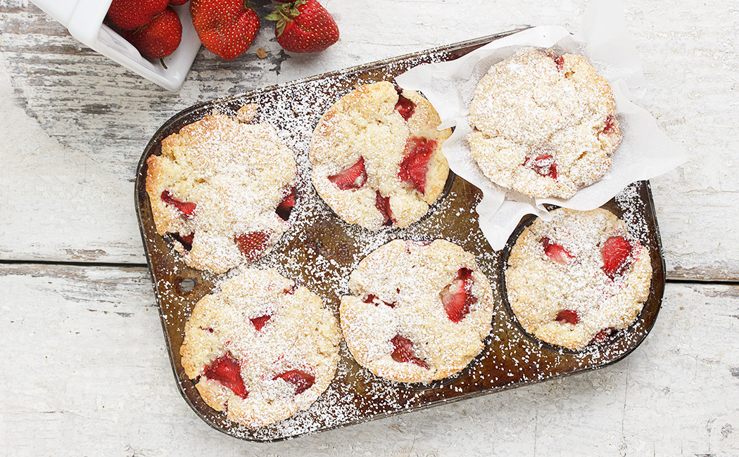 Strawberry Shortcake Muffins - Seasons and Suppers