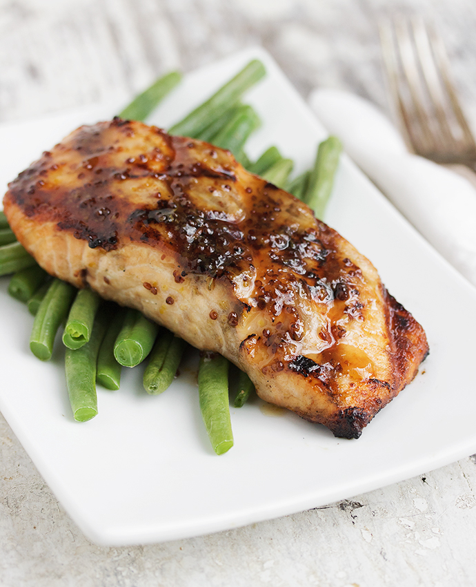 Maple Mustard Grilled Salmon - Seasons and Suppers