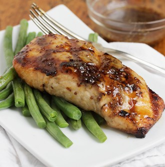 Maple Mustard Grilled Salmon