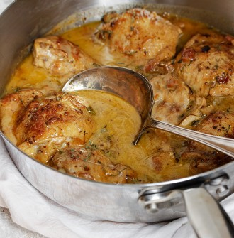 Chicken with Mustard - simple enough for weeknights, but special enough for company.