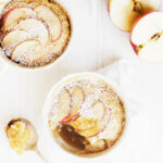 caramel apple pudding cake in small cups