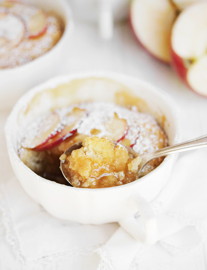 Caramel Apple Self-Saucing Pudding Cake