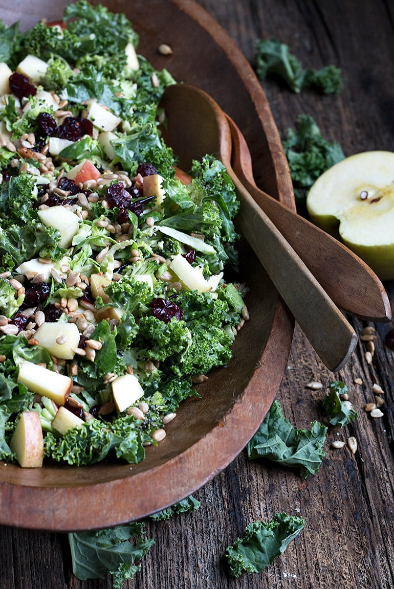 Fall Kale and Apple Salad