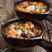 Tuscan Kale, Bean and Sausage Soup