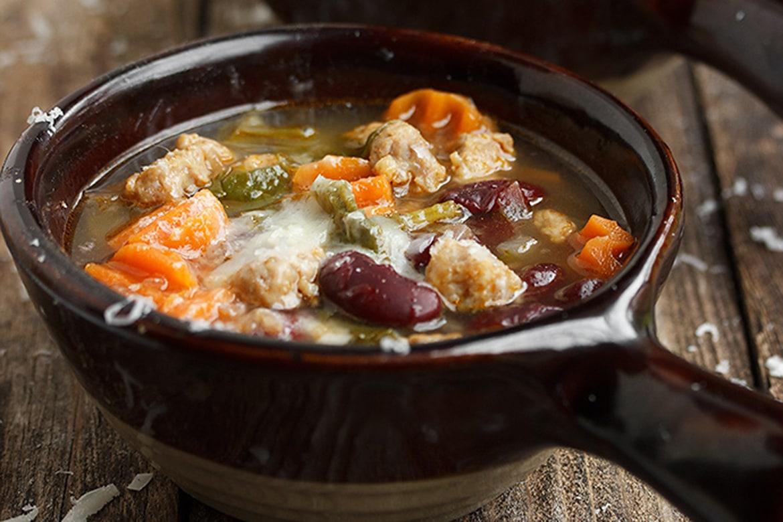 tuscan sausage and bean soup