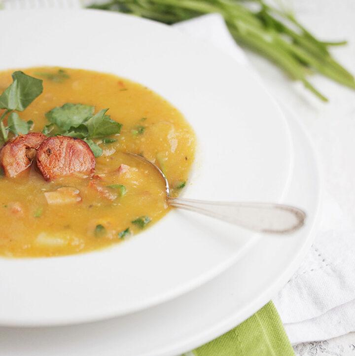 caldo verde soup with chorizo