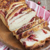 cranberry walnut swirl bread sliced