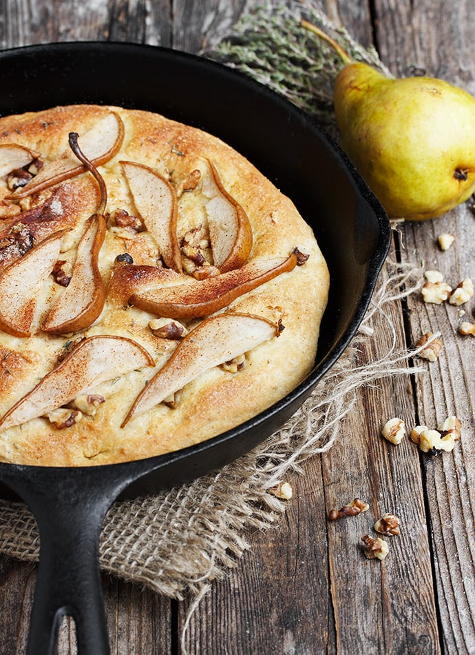 Pear and Walnut Focaccia