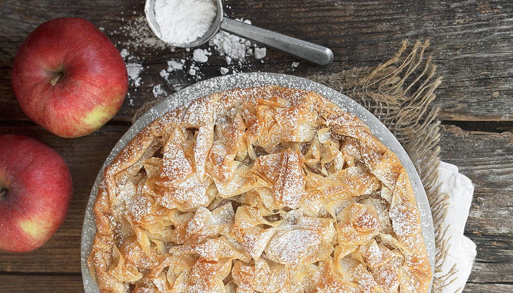 Frilly Phyllo Apple Tart