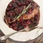 Maple Balsamic Cranberry Pork Tenderloin