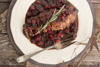 Maple Balsamic Cranberry Pork Tenderloin