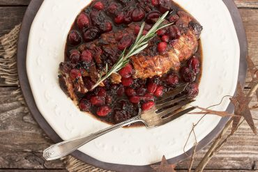 Pork Tenderloin with Cranberry Maple Balsamic Sauce