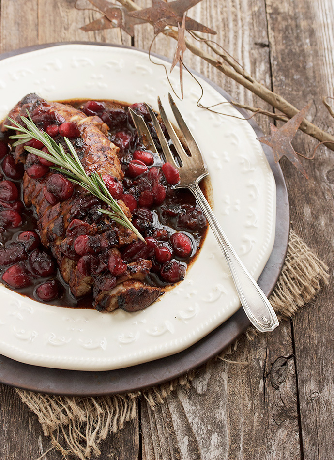 Pork Tenderloin recipe with Cranberry Maple Balsamic Sauce