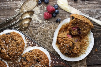 Berry Delicious Bran Muffins