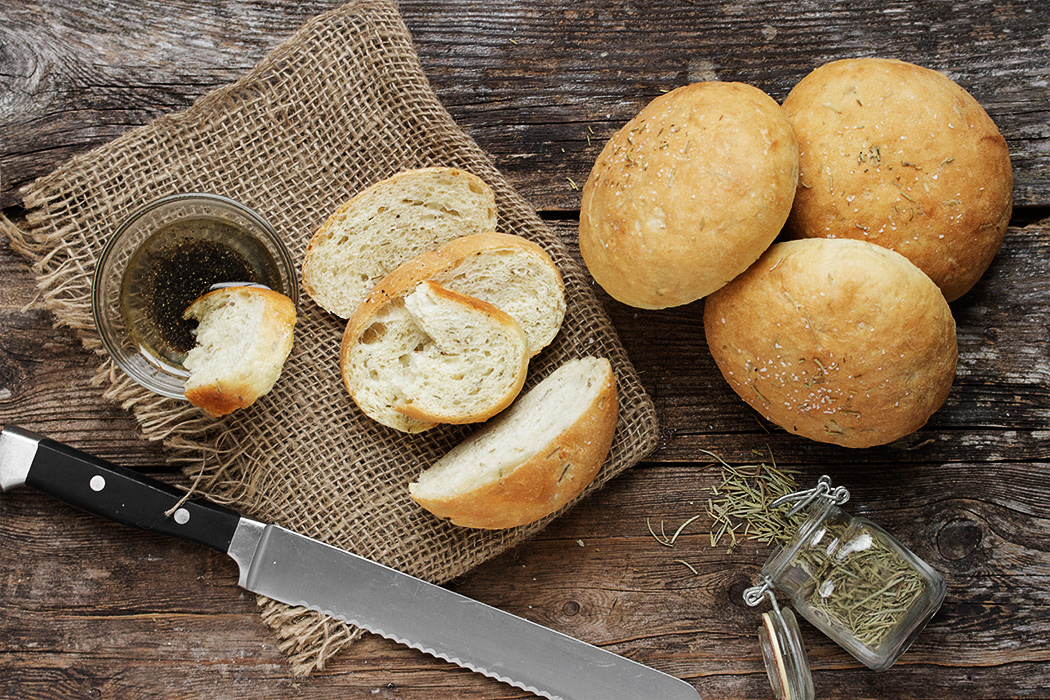 Mini Rosemary Olive Oil Bread - Seasons and Suppers