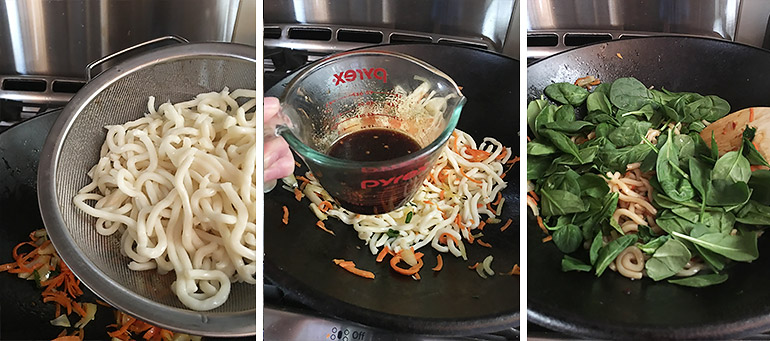 15-Minute Spicy Udon cooking