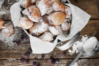 Baby Blueberry Beignets