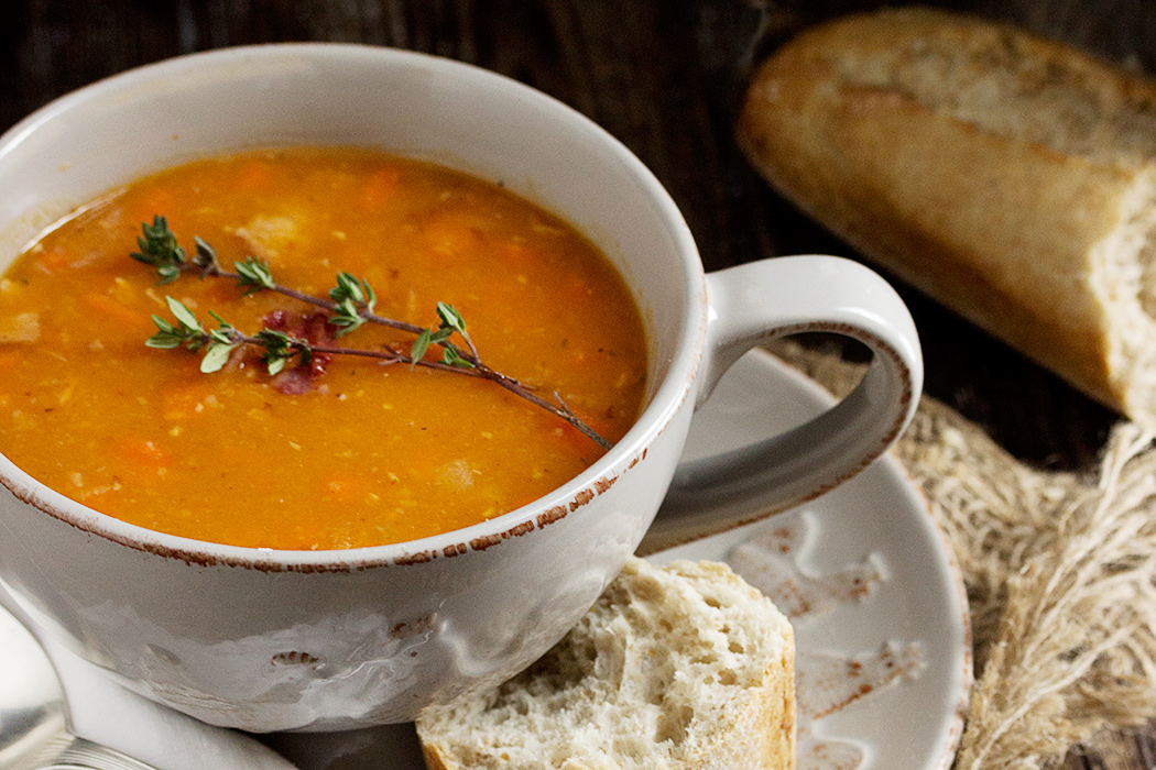 Hearty Bean with Bacon Soup