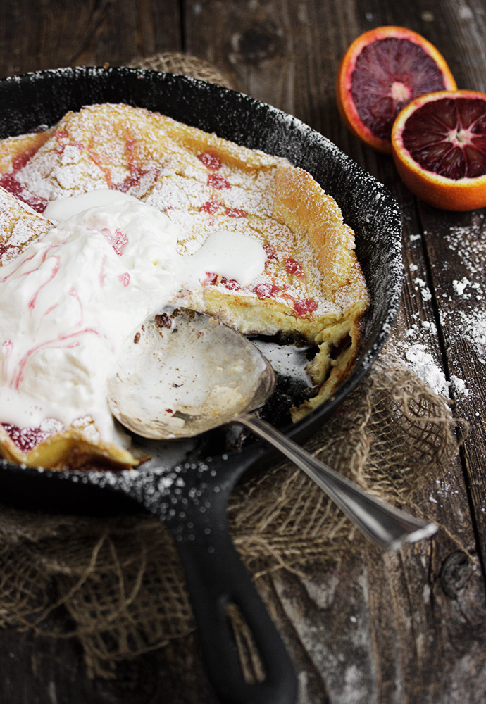 Dutch Baby with Blood Orange Syrup