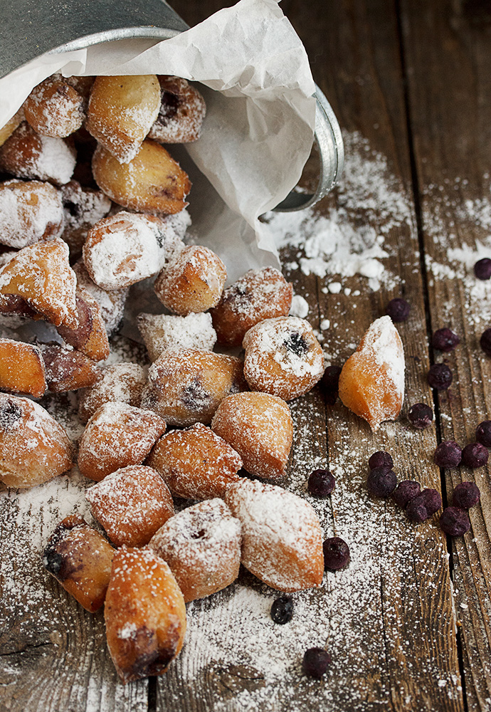 Mini Blueberry Beignets