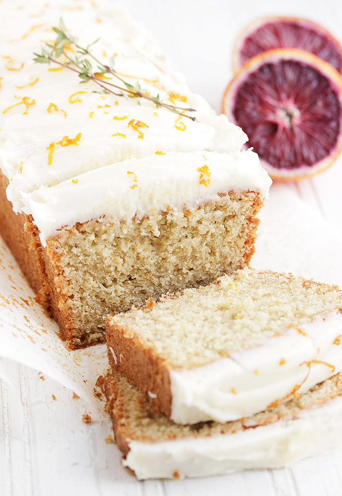 Whole Orange Tea Cake with Cream Cheese Icing