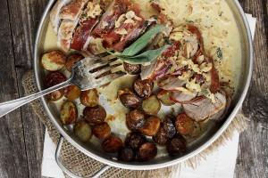 Prosciutto-Wrapped Pork Tenderloin and Potatoes