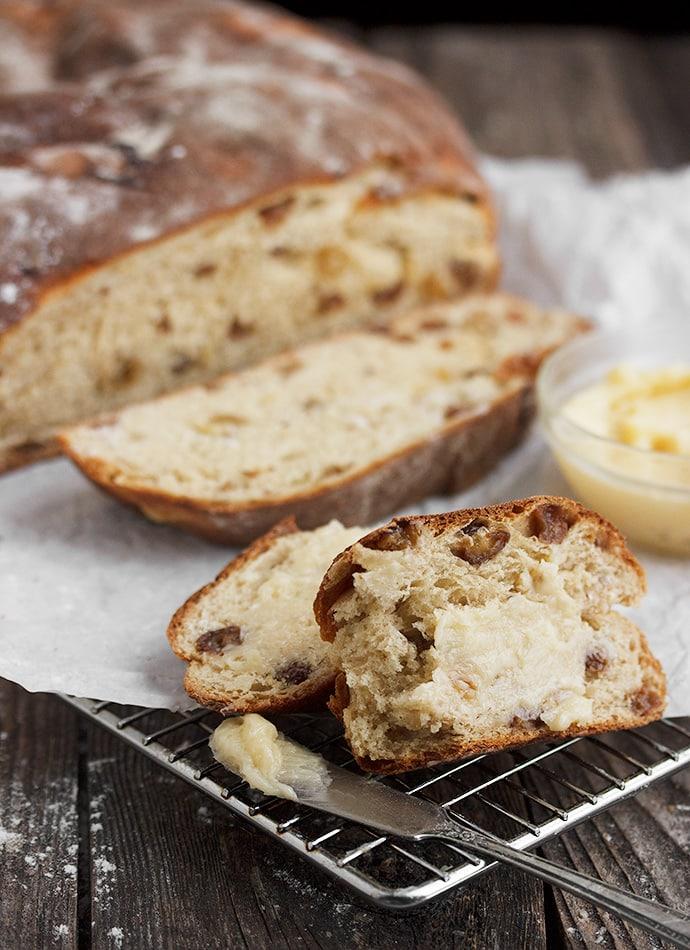 Irish Barmbrack with Honey Butter