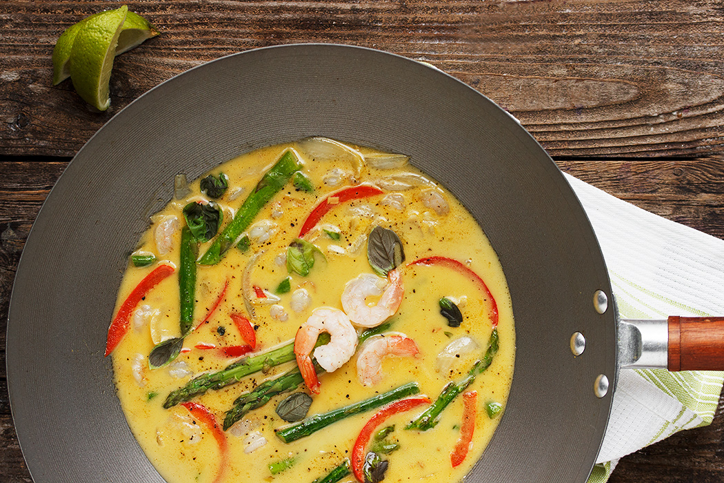 Thai Green Curry Shrimp with Asparagus - Seasons and Suppers