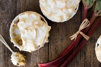 Individual Rhubarb Meringue Torte