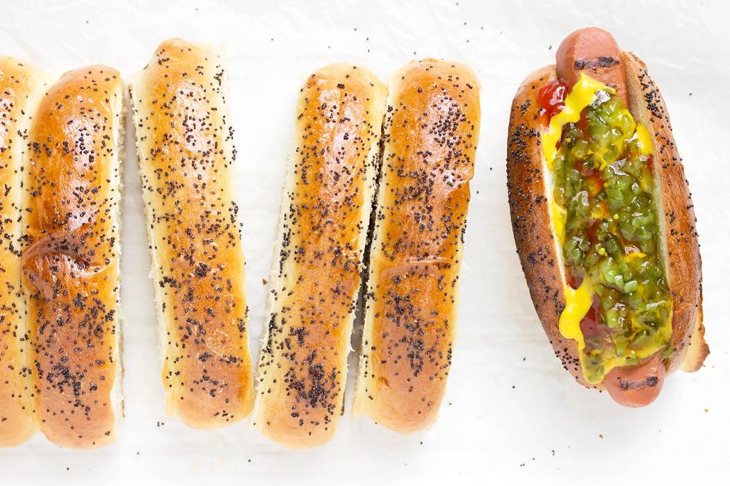Top-sliced Hot Dog Buns