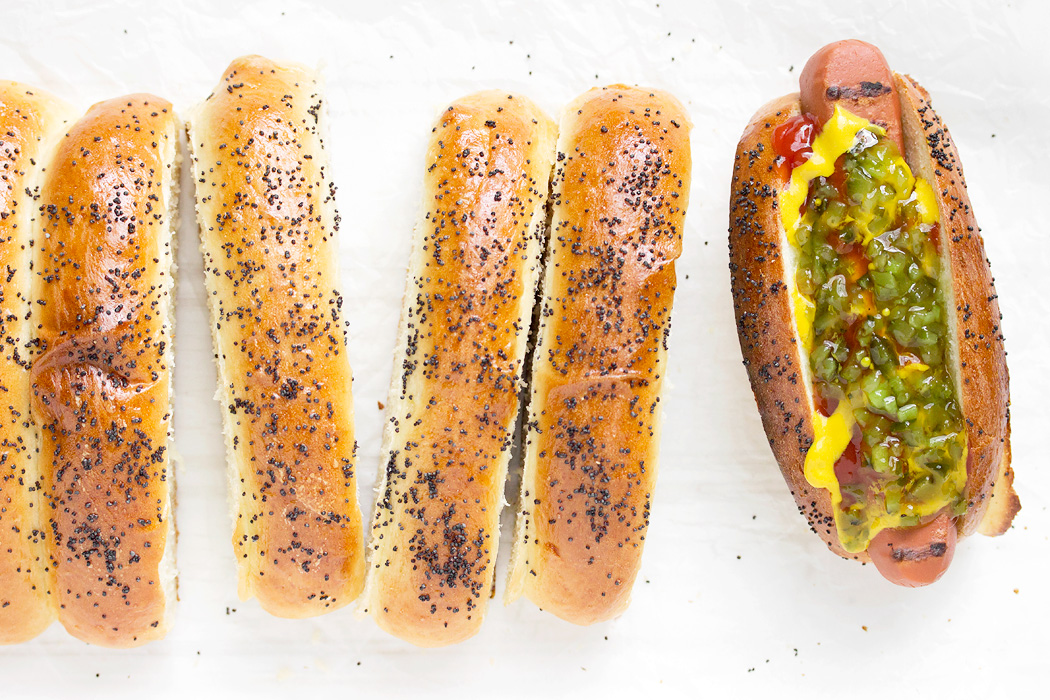 Top-sliced Hot Dog Buns