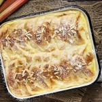 Stewed Rhubarb Bread Pudding