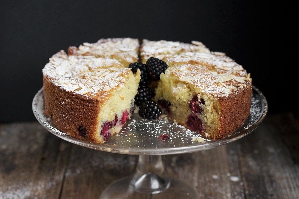 Blackberry Almond Cake