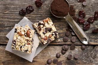 Chocolate Cherry Coffee Energy Bars