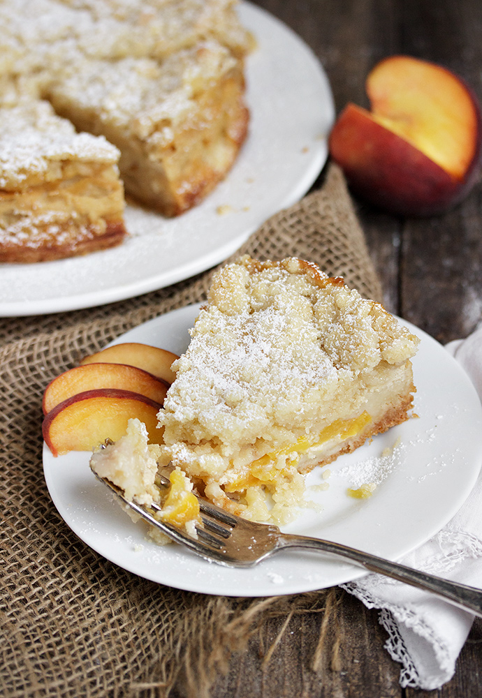 Peaches and Cream Crumble