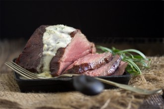 Reverse-Seared Chateaubriand with Bernaise Sauce