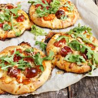 Mini Cherry Tomato and Bocconcini Pizzas