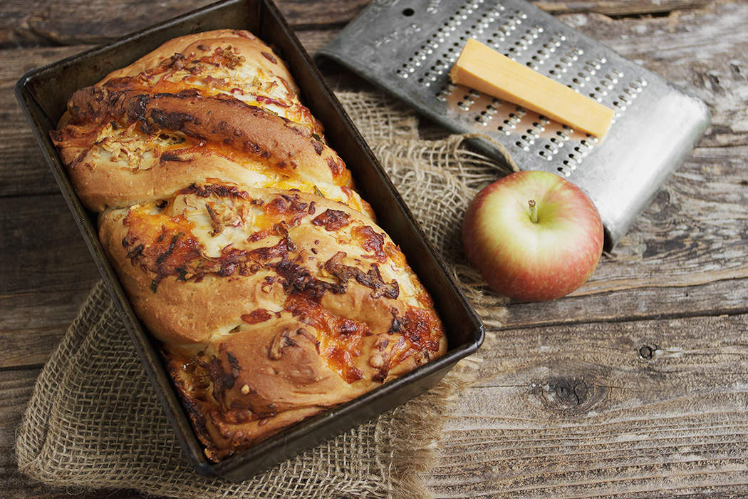 Cheddar Apple Swirl Toasting Bread - Seasons and Suppers