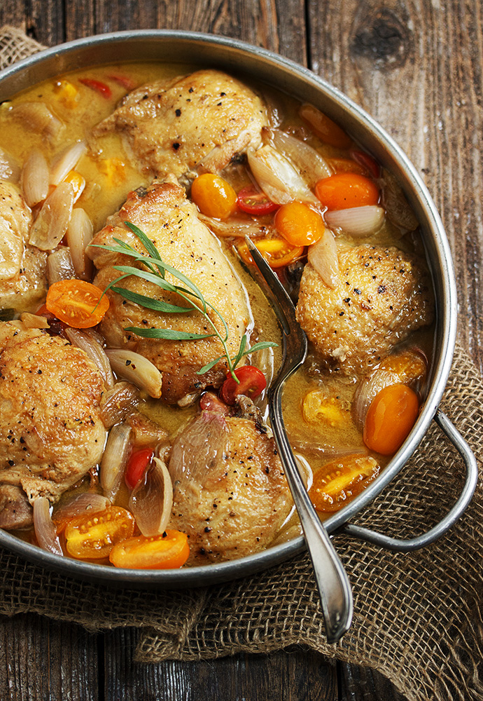 Chicken with Shallots and Cherry Tomatoes
