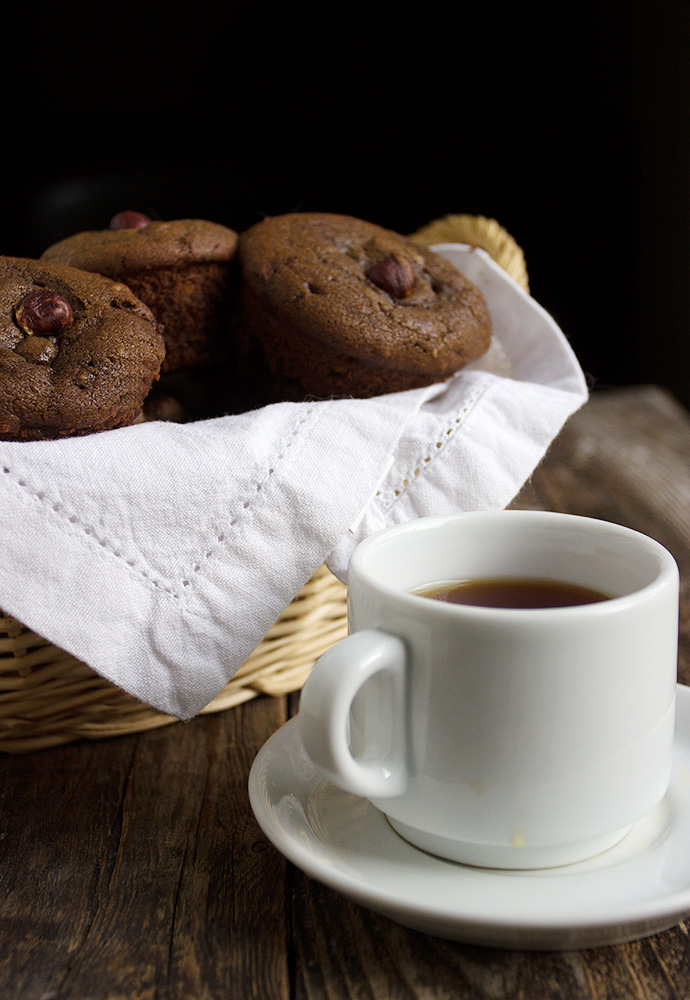 this chocolate cherry muffins recipe features tangy dried cherries ...