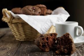Chocolate Hazelnut and Dried Cherry Muffi